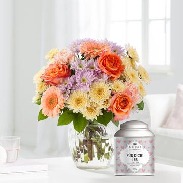 Blütenpracht Größe M mit Tafelgut Tee Für Dich