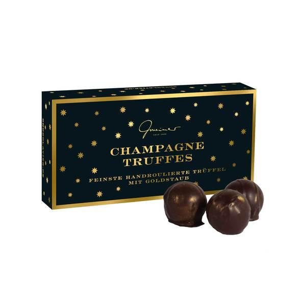 Christrose mit Champagne Truffes mit Goldstaub