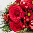 Wiesenstrauß  Weihnachtlicher Gruß mit Winterlicher Sachertorte