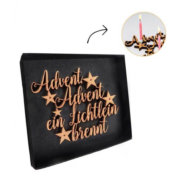 Wiesenstrauß  Winterlicher Gruß mit Schriftzug Advent Advent