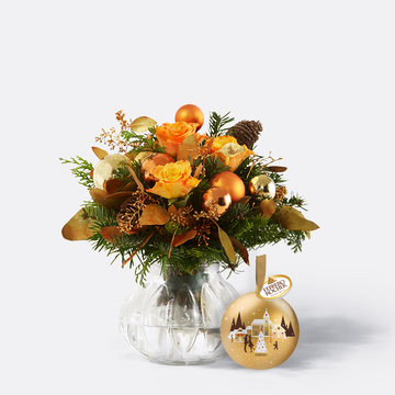 Glanzvolle Momente mit Ferrero Rocher Weihnachtskugel