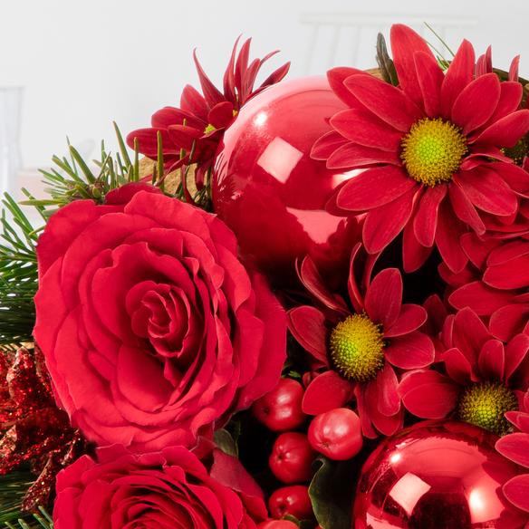 Wiesenstrauß  Weihnachtlicher Gruß mit Mini Sachertorte