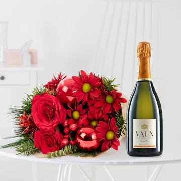 Weihnactlicher Gruß mit Sekt Vaux Cuvée Brut