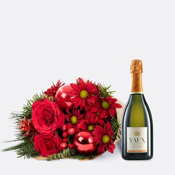 Weihnachtlicher Gruß mit Sekt Vaux Cuvée Brut