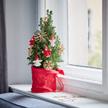 Weihnachtsbaum  Weihnachtsbaum ca. 40 cm mit Schmuck mit Hachez Frohes Fest