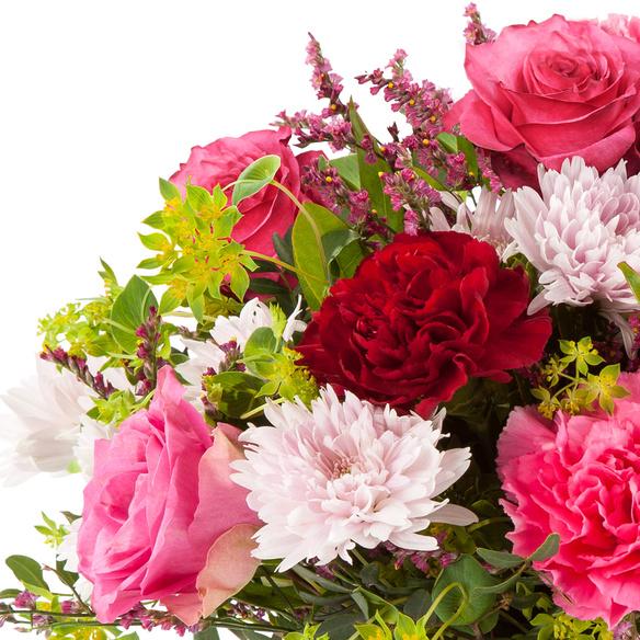 Blumenstrauß  Schön, dass es Dich gibt mit Hachez Zum Geburtstag