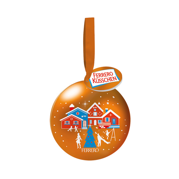 Rotwein Crianza Anoranza mit Ferrero Küsschen Weihnachtskugel