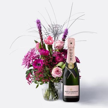 Cheers 2020 mit Champagner Moët Rosé