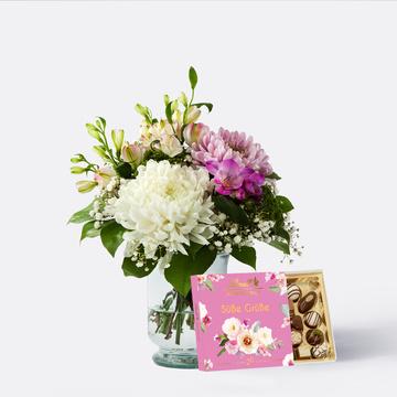 Blumenfreude mit Lindt Süße Grüße