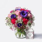 Blumenstrauß  Farbenfreude mit Tafelgut Tee Für Dich