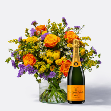 Happy Birthday Größe L mit Champagner Veuve Clicquot