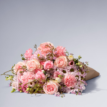 Traumhaft Rosa Größe L mit Vaux Rosé Sekt brut