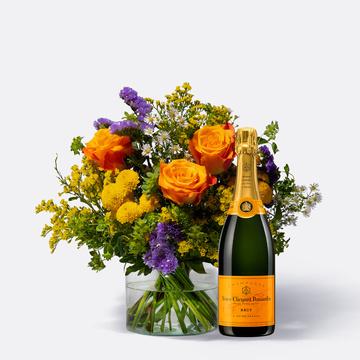 Happy Birthday Größe M mit Champagner Veuve Clicquot