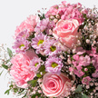 Blumenstrauß  Blumenkuss Größe M mit 9 gemischten Mini Schokoladentafeln