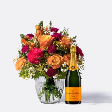 Herzlichen Glückwunsch Größe L mit Champagner Veuve Clicquot