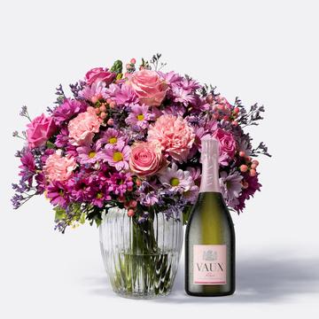 Traumhaft Pink Größe L mit Vaux Rosé Sekt brut