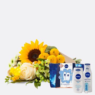 Sonnenkind mit Geschenkset Nivea mit Kosmetiktasche
