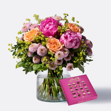 Blumenmeer mit Lindt Mini Pralinés