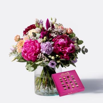 Blütenbote mit Lindt Mini Pralinés
