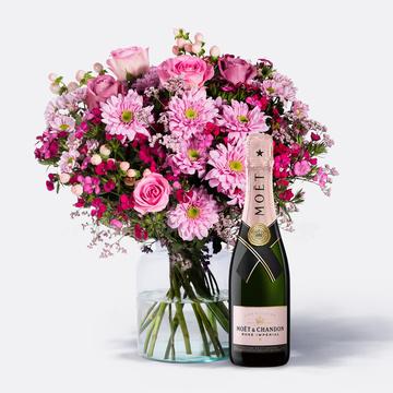 Traumhaft Pink Größe M mit Champagner Moët Rosé