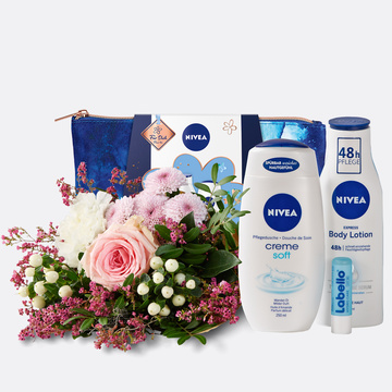 Valentina mit Geschenkset Nivea mit Kosmetiktasche