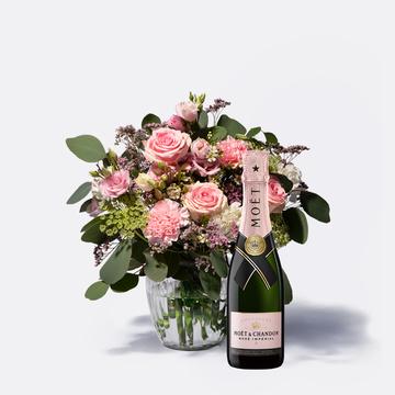 Glücksmoment mit Champagner Moët Rosé