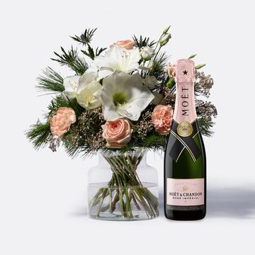 Amaryllistraum Größe M mit Champagner Moët Rosé