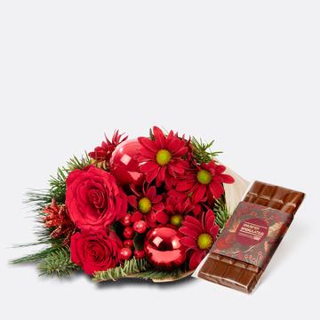 Weihnachtlicher Gruß mit Knusper Spekulatius Schokolade