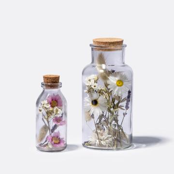 Trockenblumen im Glas 2er Set