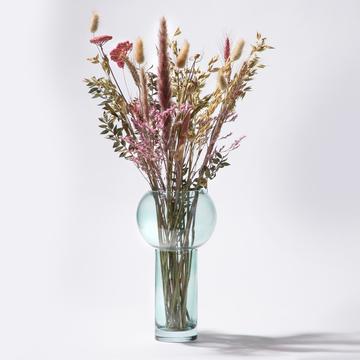 Trockenblumen Bouquet in Rosa mit Vase