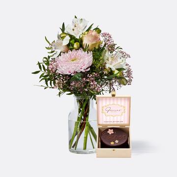 Freude für Dich mit Mini Sachertorte Blumen