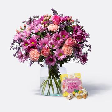 Traumhaft Pink Größe L mit Niederegger Frühlings Mix