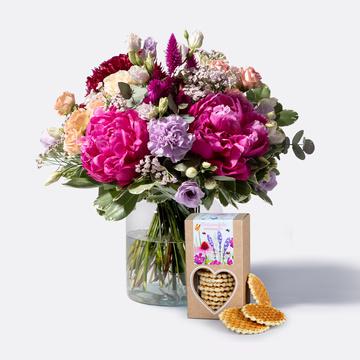 Blütenbote mit Butterwaffeln handgemacht