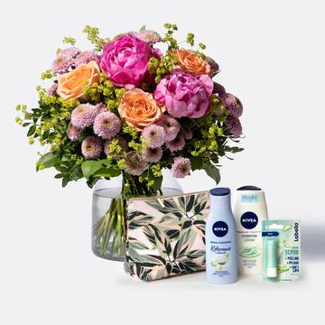 Blumenmeer mit Nivea Geschenkset Wegbegleiter