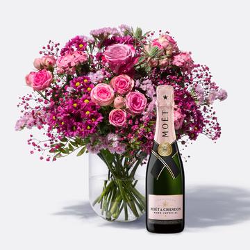 Blütenschein mit Champagner Moët Rosé