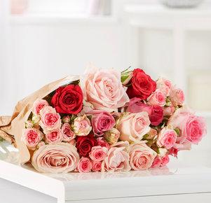 15 Stiele Rosen Mellow Roses Größe L