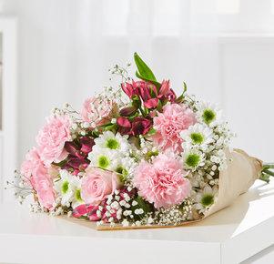 Wiesenstrauß Blumenglück Größe L in Rosa und Pink