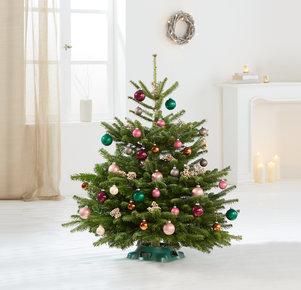 Weihnachtsbaum Bunte TimTanne Größe M in Rosa, Pink, Creme, Gold, Kupfer und Grün