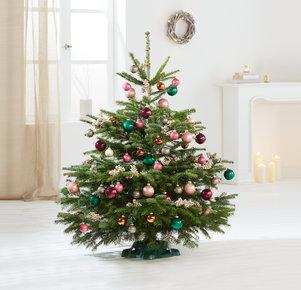 Weihnachtsbaum Bunte TimTanne Größe L in Rosa, Pink, Creme, Gold, Kupfer und Grün