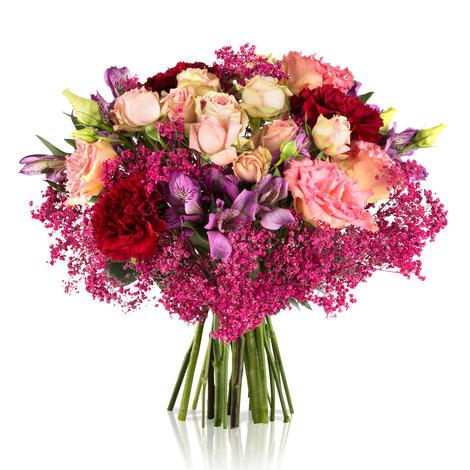 Blumenstrauß Alles Liebe in Pink und Creme