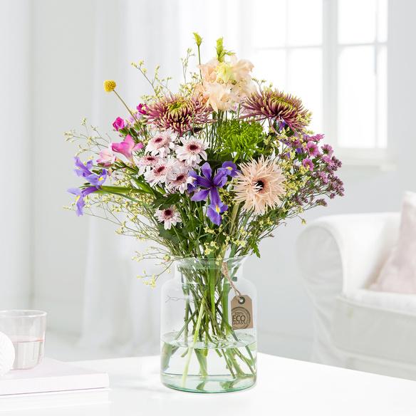 Wiesenstrauß Fairytale Flowers Größe L in Weiss, Gelb, Rosa, Creme, Lila und Grün