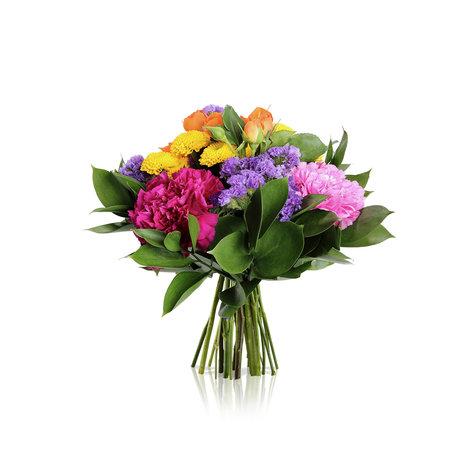Blumenstrauß Bunte Freude in Gelb, Orange, Rosa, Pink und Lila