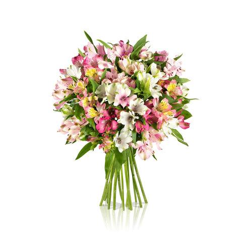 Blumenstrauß Pink Paisley in Weiss, Rosa und Apricot