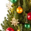 Weihnachtsbaum New York City Christmas mit Schmuck-Set im Jutesack