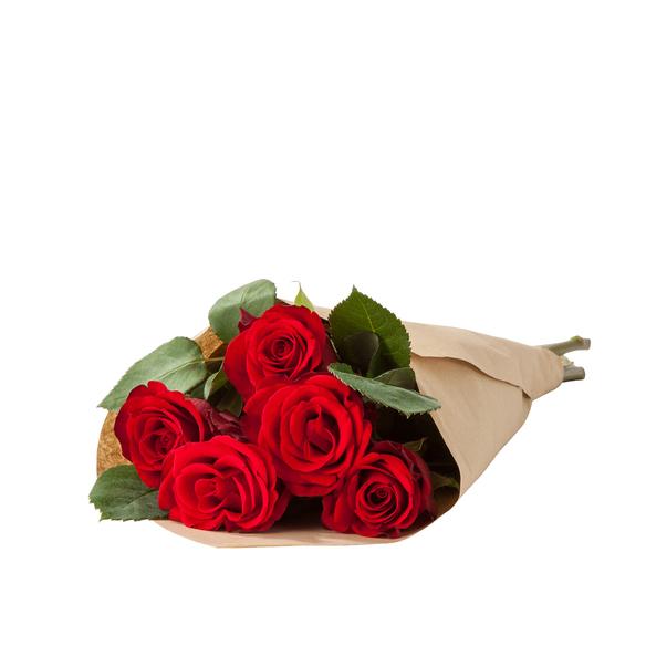 Rosen in Rot 5 Stiele