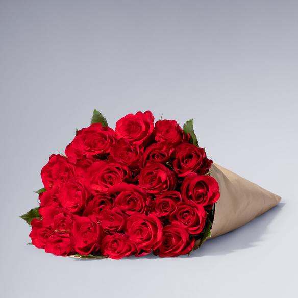 Rote Rosen Größe L 30 Stiele