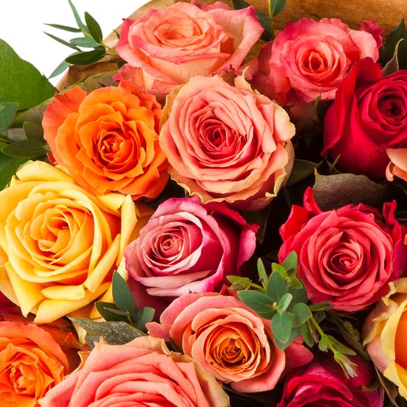 Rosenstrauß  Colourful Splash Größe L