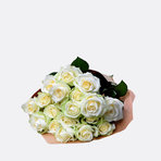 Weiße Rosen 40 Stiele