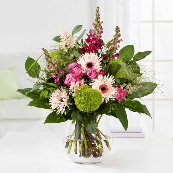 Blumenstrauß  Saisonales Blumenwunder in Pink & Lila