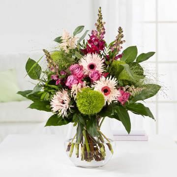 Saisonales Blumenwunder in Pink & Lila